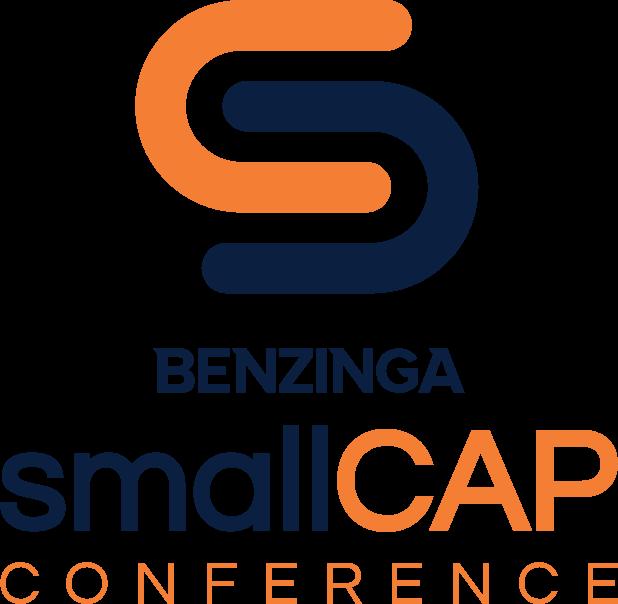 Benzinga Global Small Cap Conference Logo - Blue/Orange