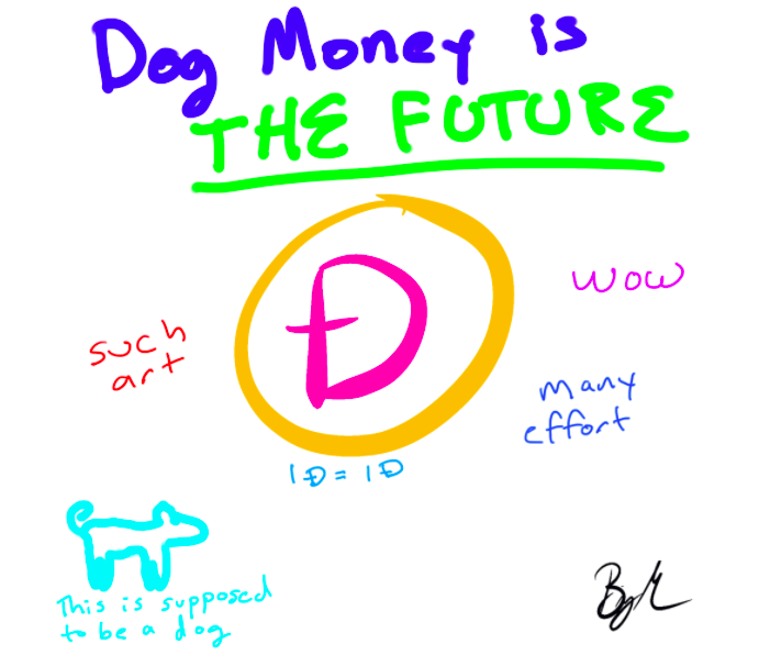 Doodle of Dogecoin sells for 1500x over asking price