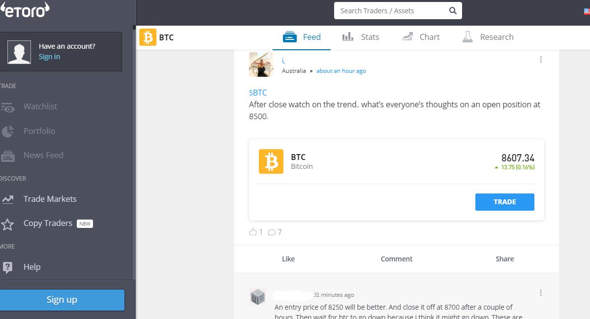 Etoro's Trading Platform