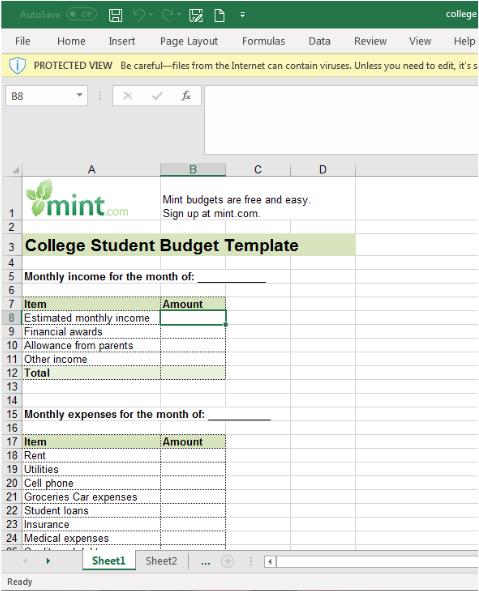Best budget spreadsheets: mint